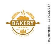 bakery logo template  vector... | Shutterstock .eps vector #1370227367