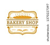bakery logo template  vector... | Shutterstock .eps vector #1370227397