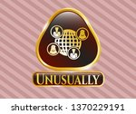 shiny emblem with social... | Shutterstock .eps vector #1370229191