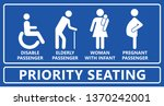 priority seating seat chair... | Shutterstock .eps vector #1370242001