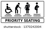 priority seating seat chair... | Shutterstock .eps vector #1370242004