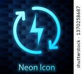 glowing neon recharging icon... | Shutterstock .eps vector #1370258687