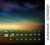 weather widget template and sky ... | Shutterstock .eps vector #137026037
