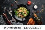 risotto with chicken fillet and ... | Shutterstock . vector #1370283137