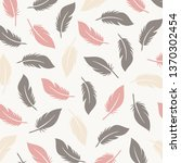 vintage elegant feather pattern.... | Shutterstock .eps vector #1370302454