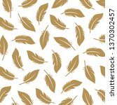 vintage elegant feather pattern....   Shutterstock .eps vector #1370302457