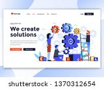 landing page template of we... | Shutterstock .eps vector #1370312654