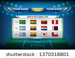 national teams of south america ... | Shutterstock .eps vector #1370318801