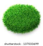 oval green grass banner | Shutterstock . vector #137033699