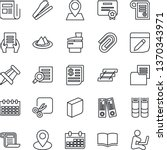 thin line icon set   book... | Shutterstock .eps vector #1370343971