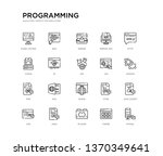 set of 20 line icons such as... | Shutterstock .eps vector #1370349641