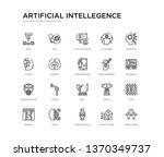 set of 20 line icons such as... | Shutterstock .eps vector #1370349737