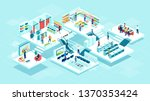 isometric vector of people men... | Shutterstock .eps vector #1370353424
