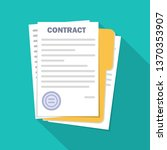 contract signing . modern... | Shutterstock .eps vector #1370353907