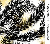 black and gold vector palm... | Shutterstock .eps vector #1370358557