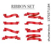 red ribbons set. vector design... | Shutterstock .eps vector #1370371184