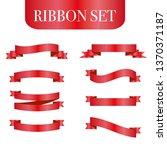 red ribbons set. vector design... | Shutterstock .eps vector #1370371187
