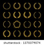 collection of different golden... | Shutterstock .eps vector #1370379074