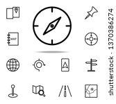 compass icon. navigation icons...