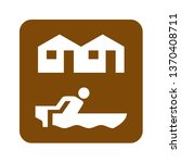 brown resort recreational sign | Shutterstock . vector #1370408711