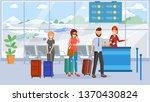 passengers in airport terminal... | Shutterstock .eps vector #1370430824