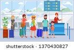 passengers in airport terminal... | Shutterstock .eps vector #1370430827