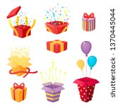 set of 3d prize boxes with... | Shutterstock .eps vector #1370445044