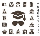 diploma icon set. 17 filled... | Shutterstock .eps vector #1370445911