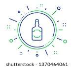 whiskey bottle line icon.... | Shutterstock .eps vector #1370464061