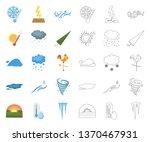 different weather cartoon... | Shutterstock .eps vector #1370467931