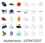 hacker and hacking cartoon... | Shutterstock .eps vector #1370472257