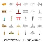 sights of different countries... | Shutterstock .eps vector #1370473034