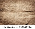 old dirty burlap texture | Shutterstock . vector #137047994