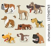 cartoon dogs collection | Shutterstock .eps vector #137048765