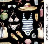 summer apparel for beach... | Shutterstock . vector #1370488814