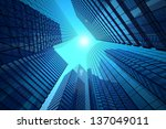 office buildings on a... | Shutterstock . vector #137049011