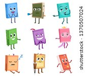 books cute characters set.... | Shutterstock .eps vector #1370507024