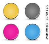 glossy web buttons | Shutterstock . vector #137051171