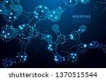 molecule. scientific molecule... | Shutterstock .eps vector #1370515544