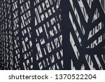 metal grid structure of fence... | Shutterstock . vector #1370522204