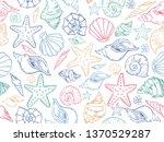 sea theme seamless pattern... | Shutterstock .eps vector #1370529287