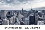 panorama of new york city in... | Shutterstock . vector #137053955