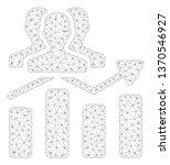 mesh audience chart trend... | Shutterstock .eps vector #1370546927