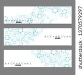 scientific set of modern vector ... | Shutterstock .eps vector #1370579297