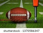 Closeup Of An American Football ...