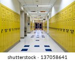 high school hallway showing... | Shutterstock . vector #137058641