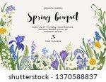 Spring Bouquet. Vintage Vector...