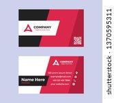 modern business card template | Shutterstock .eps vector #1370595311