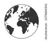 earth globe icon | Shutterstock .eps vector #1370604341
