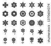 flower silhoutte icons...   Shutterstock .eps vector #1370604374